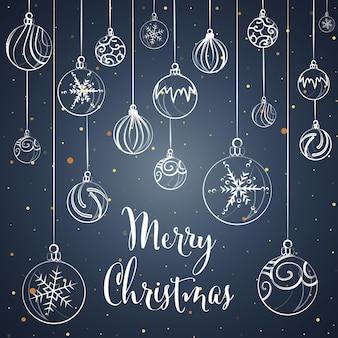 クリスマスと新年の背景グリーティングカードベクトル図