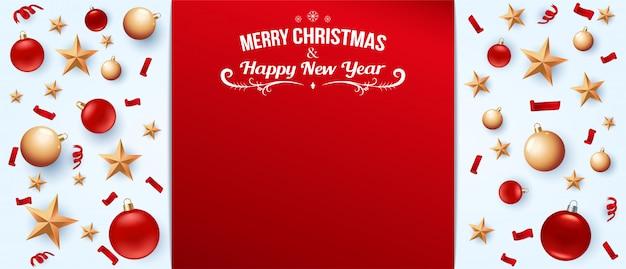 크리스마스와 새 해 배경
