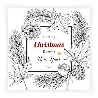 Рождественские и новогодние фоны и поздравительные открытки.