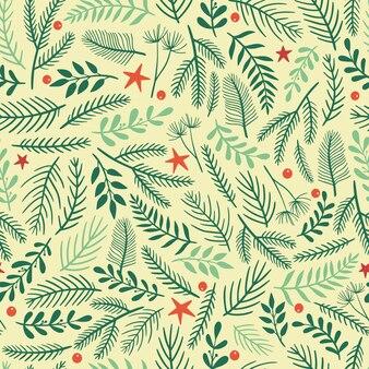 クリスマスと新年の枝のシームレスなパターン