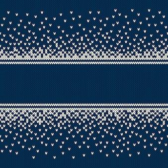 Рождество и новый год дизайн вязаный фон с местом для текста. вязание свитера дизайн