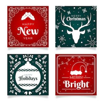 クリスマスと大晦日のカードコレクション