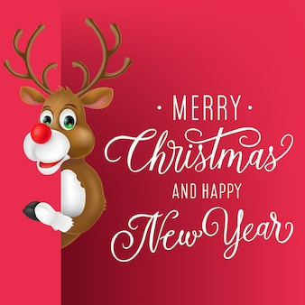 Рождественский и новогодний дизайн флаера