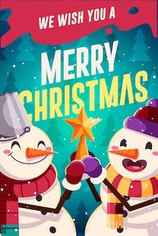 Рождество и новогодняя открытка дизайн. векторная иллюстрация