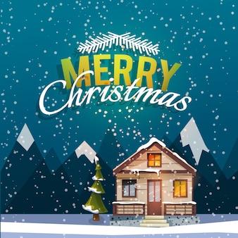 Рождественская и новогодняя открытка.