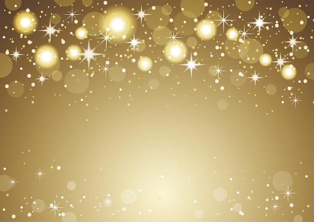 Рождественские и новогодние праздники золото абстрактный фон боке.