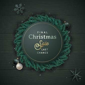 Рождество и новый год кладут композицию.