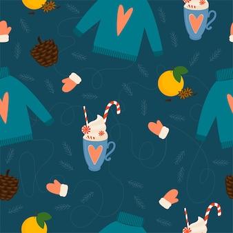 크리스마스와 새 해 패턴 배경입니다. christmaswrapping 종이 서식 파일, 새해 섬유, 크리스마스 가정 장식.