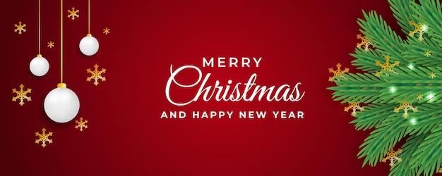 빨간색 배경에서 크리스마스와 새 해 게시물 템플릿 디자인