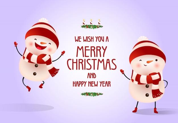 크리스마스와 새해 포스터 디자인