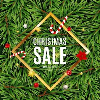 Рождество и новогодняя распродажа фон, шаблон купона на скидку. eps10 векторные иллюстрации