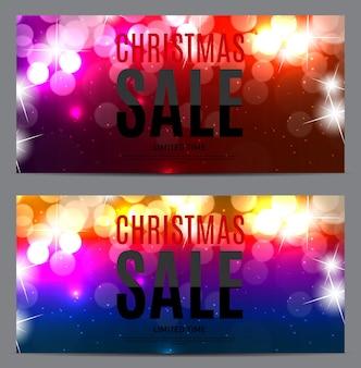 クリスマスと新年のセールの背景、割引クーポンテンプレート。ベクトルイラストeps10