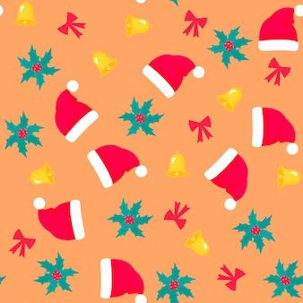 Рождество и новый год бесшовные модели, цифровая бумага.