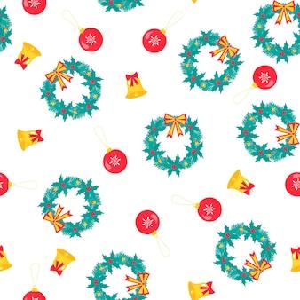 クリスマスと新年のシームレスなパターン、デジタルペーパー。