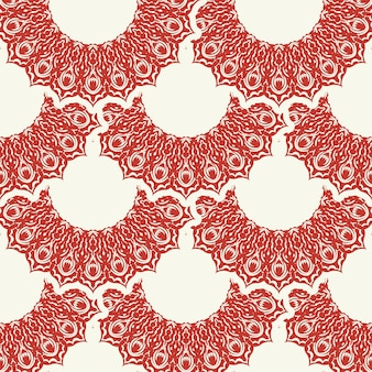 크리스마스와 새 해 완벽 한 패턴입니다. 빨간색과 흰색 공정한 섬 픽셀 패턴은 겨울 모자, 못생긴 스웨터, 점퍼 또는 기타 디자인을 위한 북유럽 눈송이가 있는 빨간색과 흰색입니다.