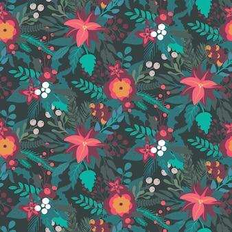 크리스마스와 새 해 원활한 패턴
