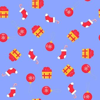 クリスマスと新年のシームレスなパターン