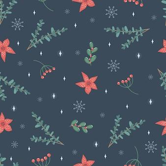 크리스마스와 새 해 기호입니다. 벡터 완벽 한 패턴입니다. 디지털 종이. 디자인 요소입니다.