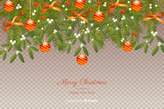 Christmas and New Year Transparent Background