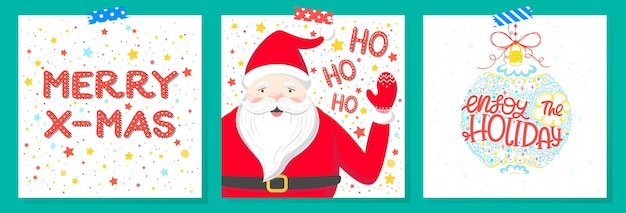 Рождественские и новогодние открытки с поздравлениями
