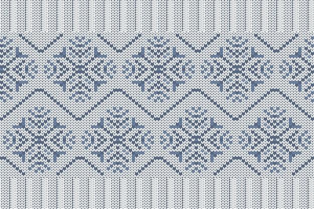 格子縞のセーターデザインのクリスマスと冬の休日の編みパターン。