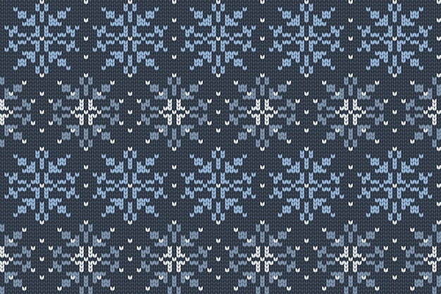 チェック柄のクリスマスと冬の休日の編みパターン