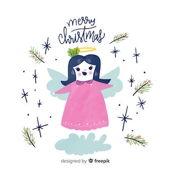 Christmas angel background