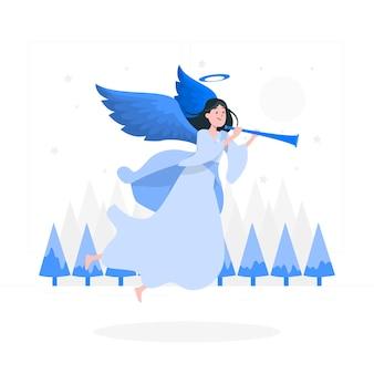 クリスマスの天使の概念図