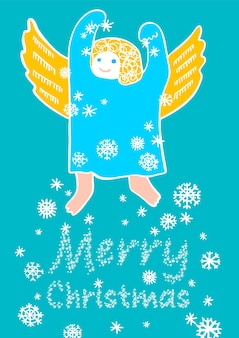 Christmas angel, holiday decoration for your design