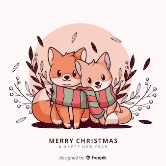Christmas animals greetings