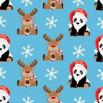 Christmas animals pattern