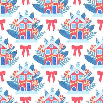 Christmas art seamless pattern