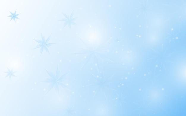 クリスマスの背景。白と青の背景に抽象的な雪の結晶。ベクトルイラスト