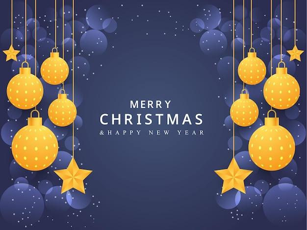 크리스마스 배경 배너 디자인 크리스마스 공 별 상자 디자인 크리스마스 배너 화려한