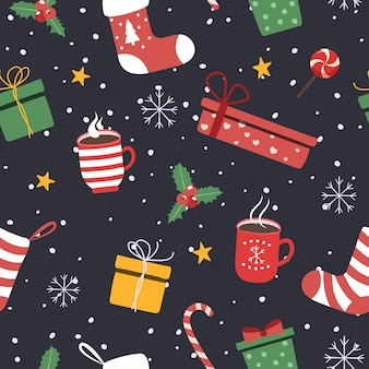 クリスマスの背景、ギフトボックス