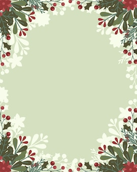 クリスマスの背景。クリスマスの飾りとフレーム