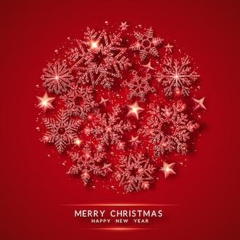 Christmas background. circle shape