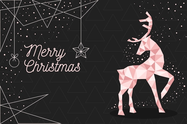 Christmas background concept in polygonal style