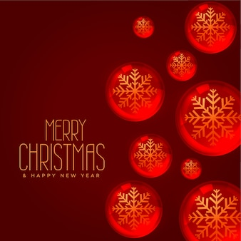 Christmas background concept with balls decoration