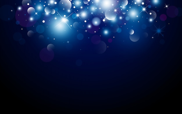 Christmas background design of bokeh and light effect