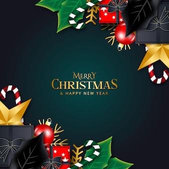 Рождественский фон с элементами