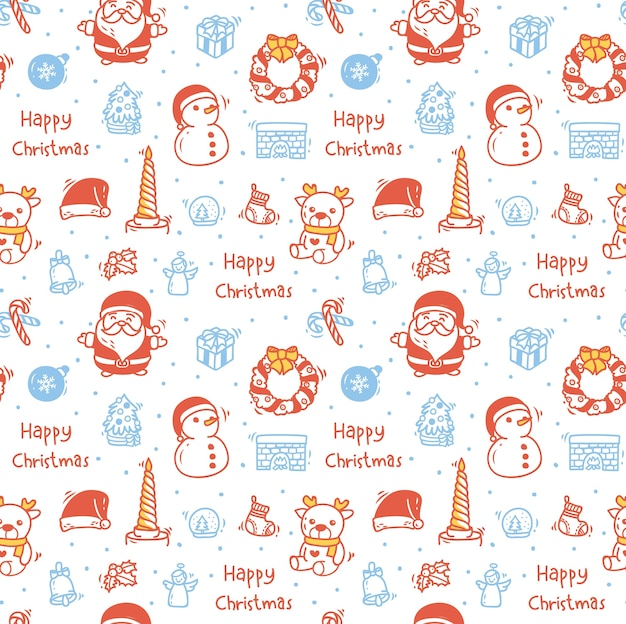 Christmas background in doodle style