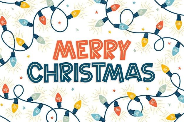Christmas background drawn