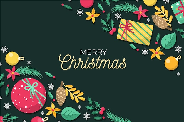 Christmas background in flat design