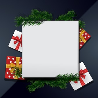 Christmas background frame blank template