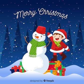 Christmas background hand drawn