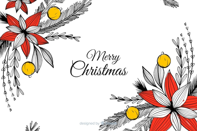 Christmas background in hand drawn