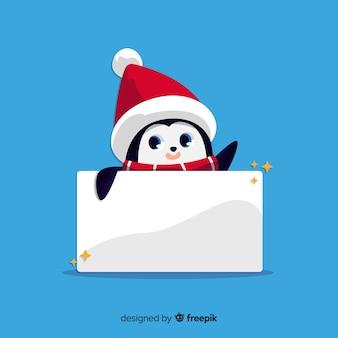 Christmas background hidden penguin