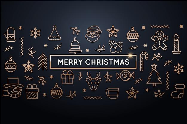 Рождественский фон в стиле структуры
