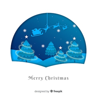 Рождественские фон в стиле бумаги